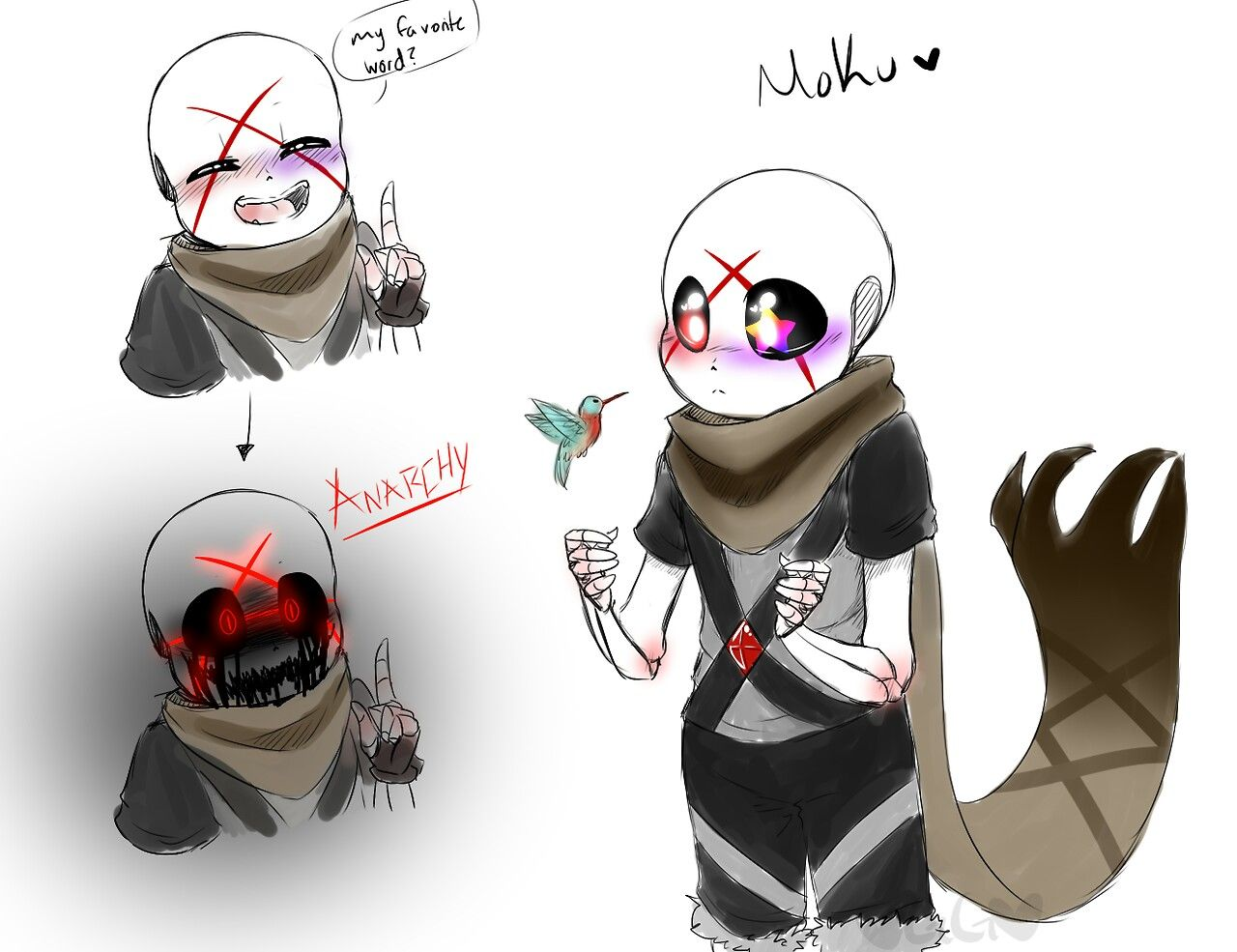 Moku the ink x cross child | Undertale,AU'S and deltarune ...