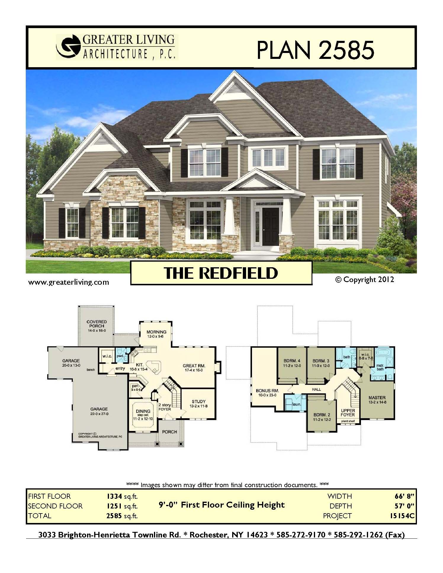 Plan 2585: THE REDFIELD | Up North House | Pinterest | House ...