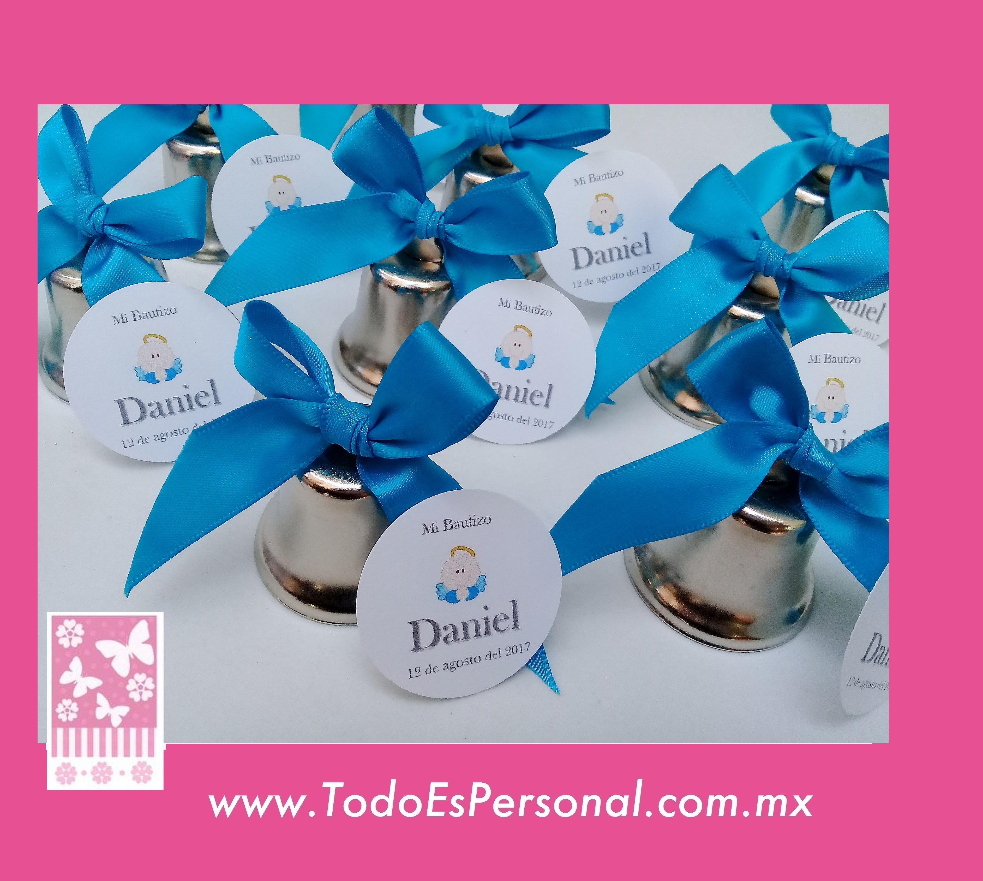 115715ce0 campanas para bautizo utiles plata liston azul celeste bebé daniel boda  comunion detalles evento invitados recuerdos originales baratos ideas