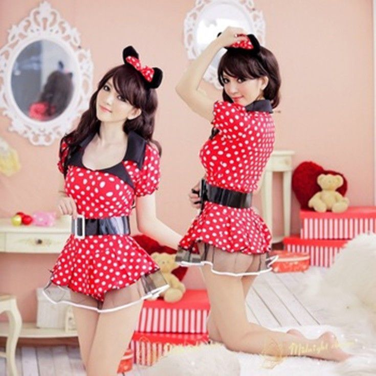 Plus Size Sexy Ladies Mickey Mouse Outfit Costume Halloween Fancy