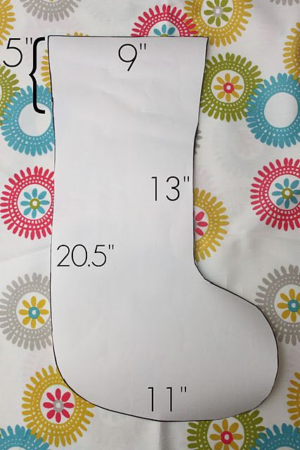 template christmas stocking measurements  I am really thinking about making our Christmas stockings ...