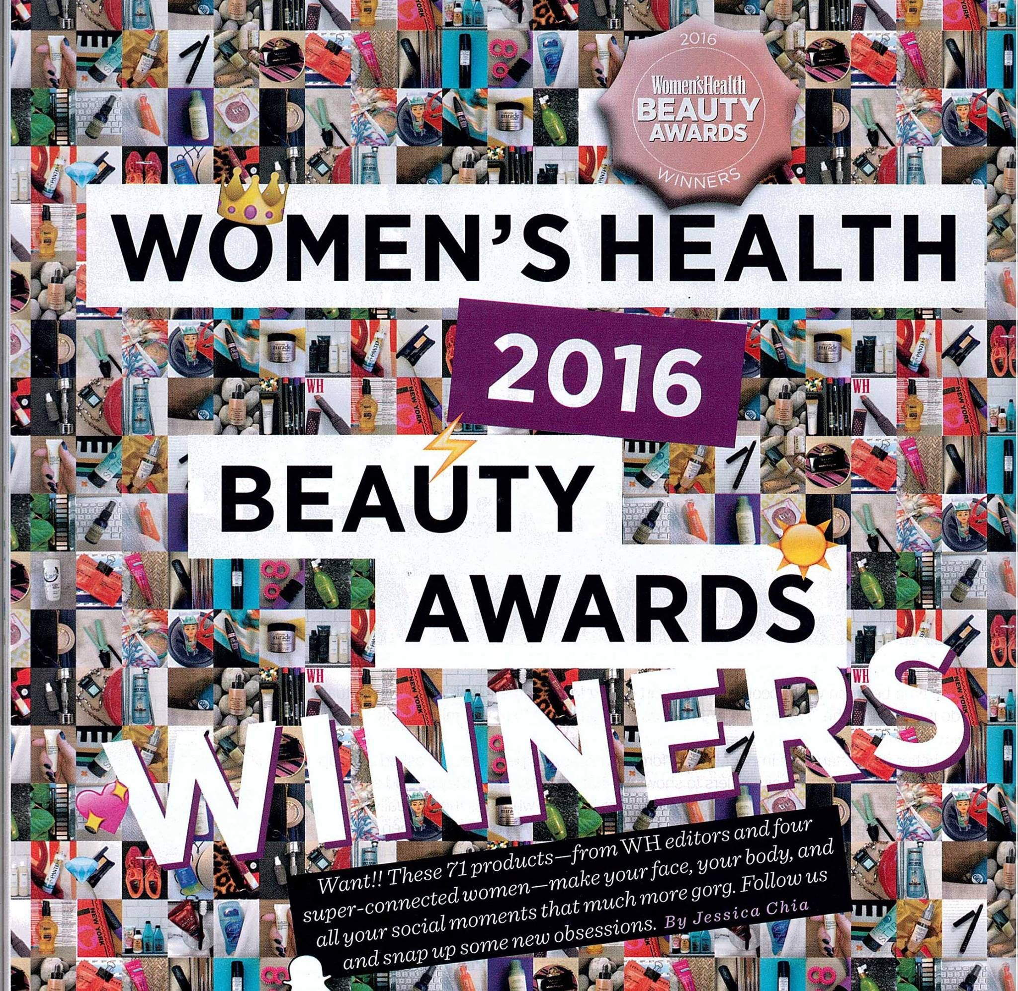 """So excited to share that our Organic Defence Hand Spray has won a Women's Health 2016 Beauty Award in the """"At Work"""" category! The purifying blend of pure organic essential oils with witch hazel helps to protect and keep hands naturally clean and fresh for hygienic hands on-the-go!"""