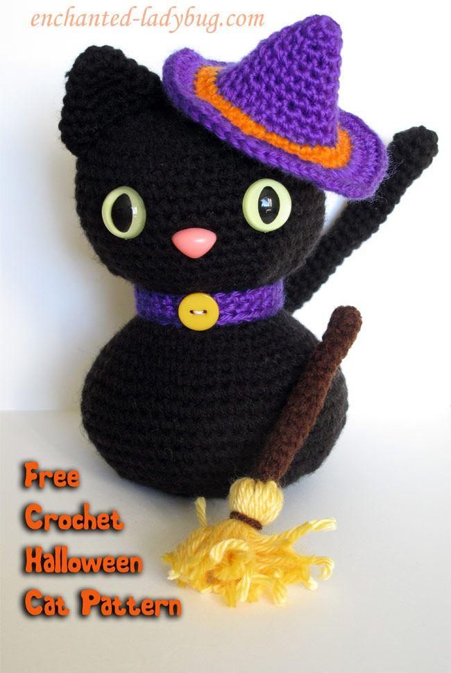 Free Crochet Amigurumi Halloween Black Cat Pattern | Amigurumis ...