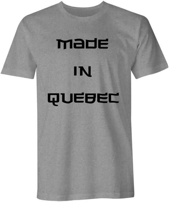 Made In Quebec Shirt Quebec Canada t-shirt slogan tee by Kebeker