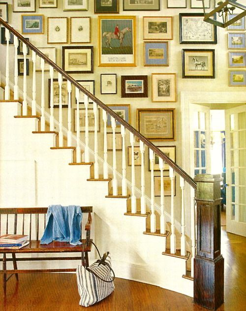 arrangement. | Staircase Galleries | Pinterest | Gallery wall, Stair ...