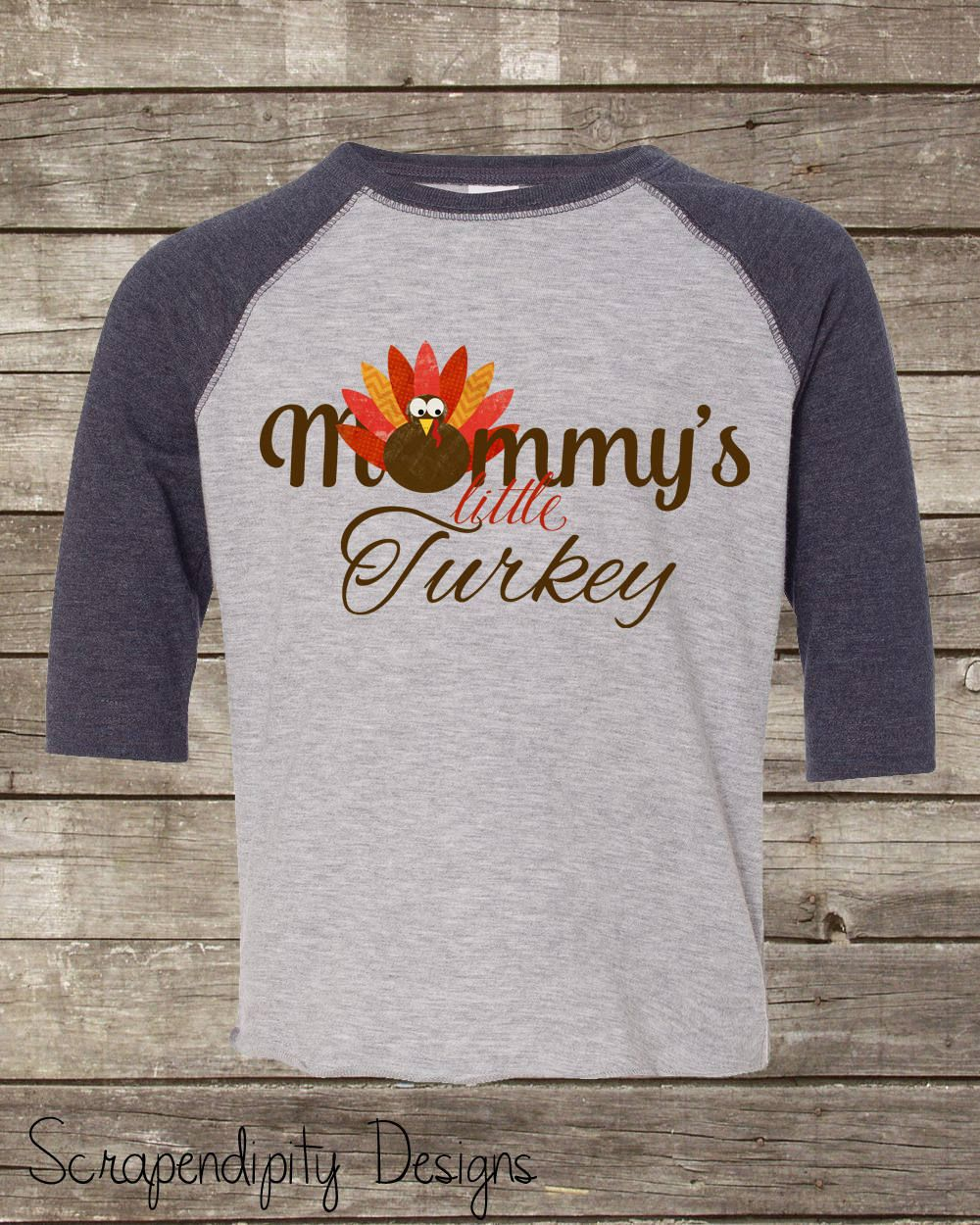 7 ate 9 Apparel Baby Boys Little Turkey Thanksgiving Grey Raglan