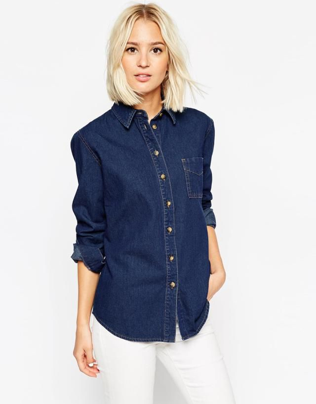 17b927f66b7 Learn how to style a denim shirt in your wardrobe to create different looks  with these inspired outfit ideas for work