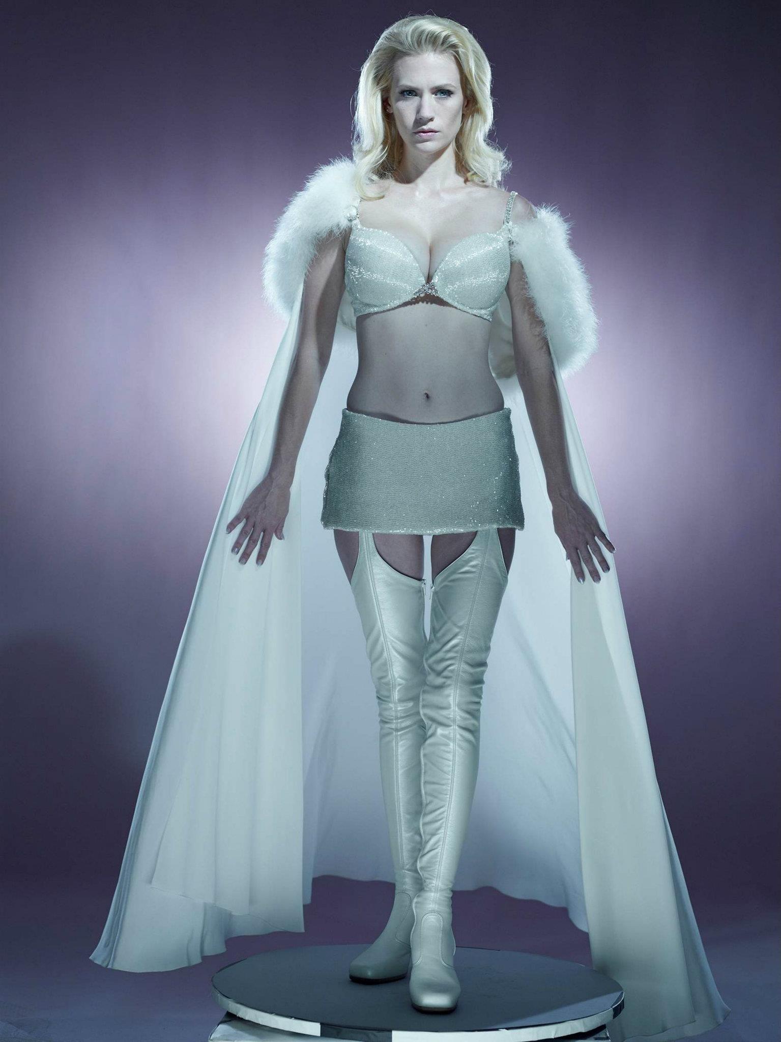 Groovy Emma Frost January Jones Filmes De Super Herois Super Hero Hairstyles For Women Draintrainus
