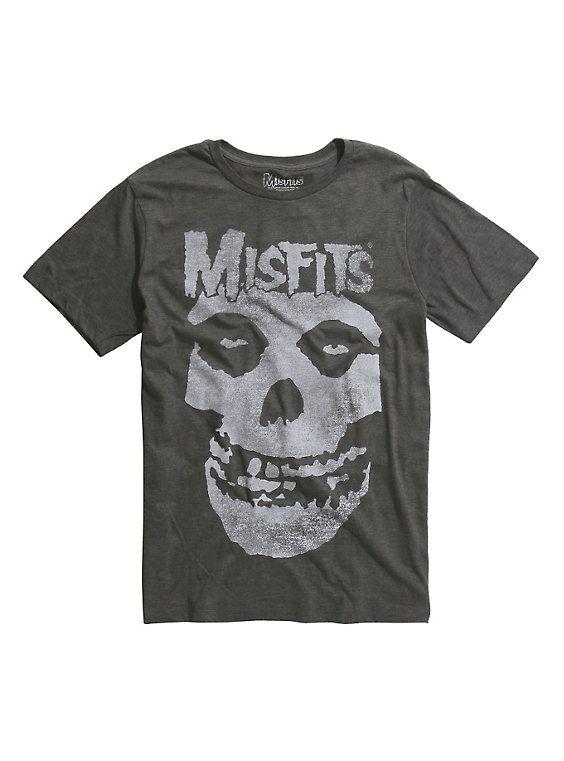 Misfits Fiend Skull Tri-Blend T-Shirt, CHARCOAL HEATHER