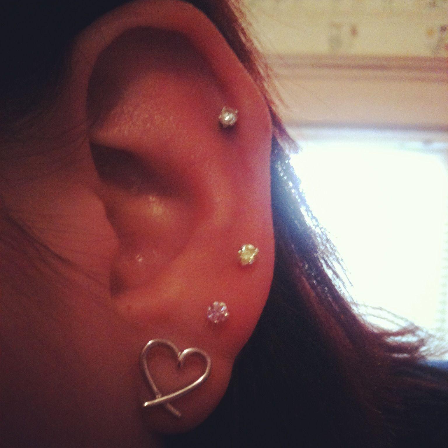 Pretty piercing ideas  My ear piercings   piercings etc  Pinterest  Ear piercings