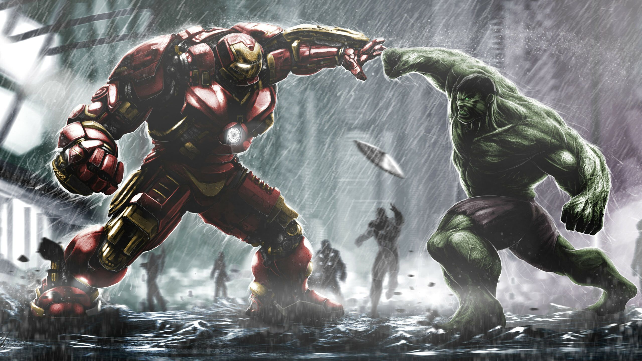 Iron Man 4k Wallpaper New 41 Hulk Vs Hulkbuster Fight Wallpaper