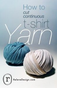 Cutting continuous t-shirt yarn