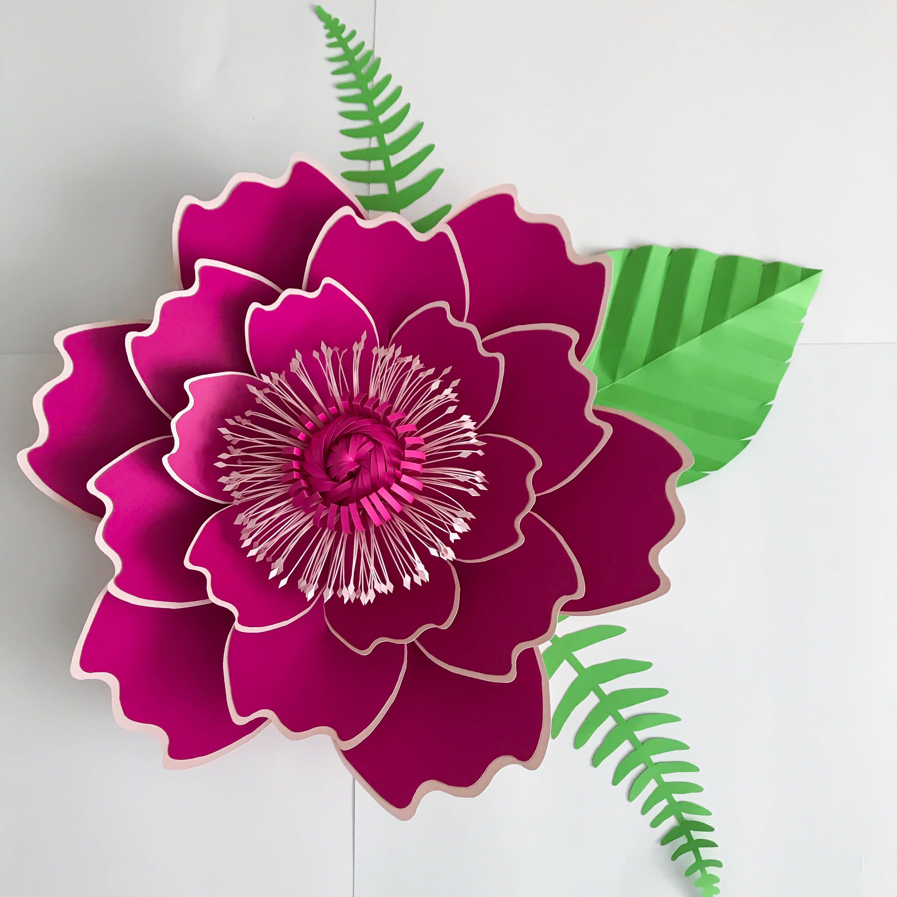 Pdf Petal 7 Paper Flower Template With Base Diy Trace And Cut