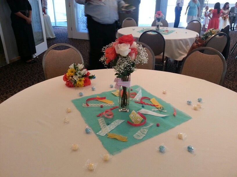 Colorful and fun centerpiece
