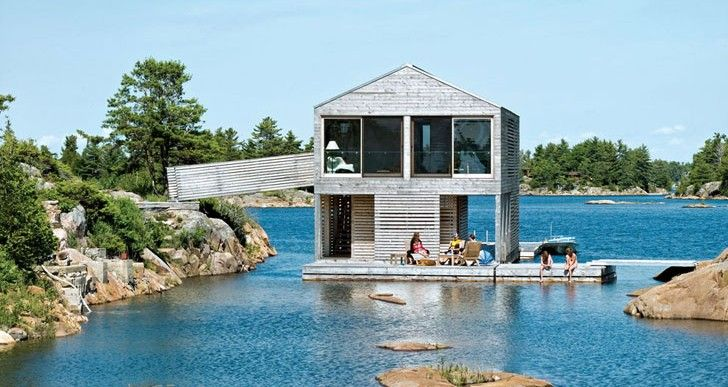Nice Floating House In Lake Huron Ideasgn8 MOS Architects1 728x387 (728×387)  | Architecture | Pinterest | Boat House, Boathouse And House Ideas