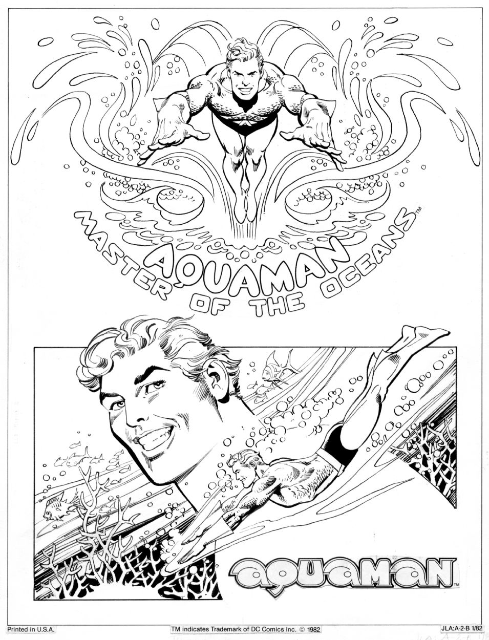 aquaman comic colouring page coloring pages pinterest aquaman