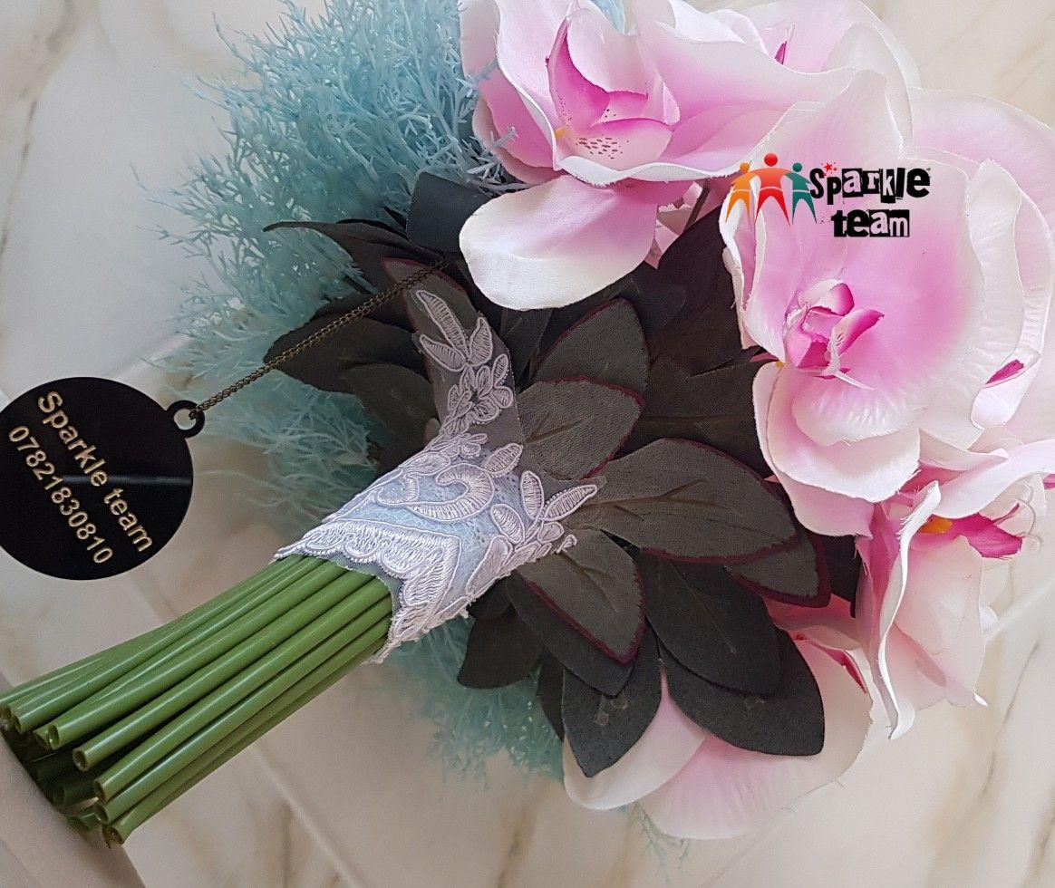 مسكة زفاف دزاين جديد نص أوركيد وتطعيم سمائي Bouquet