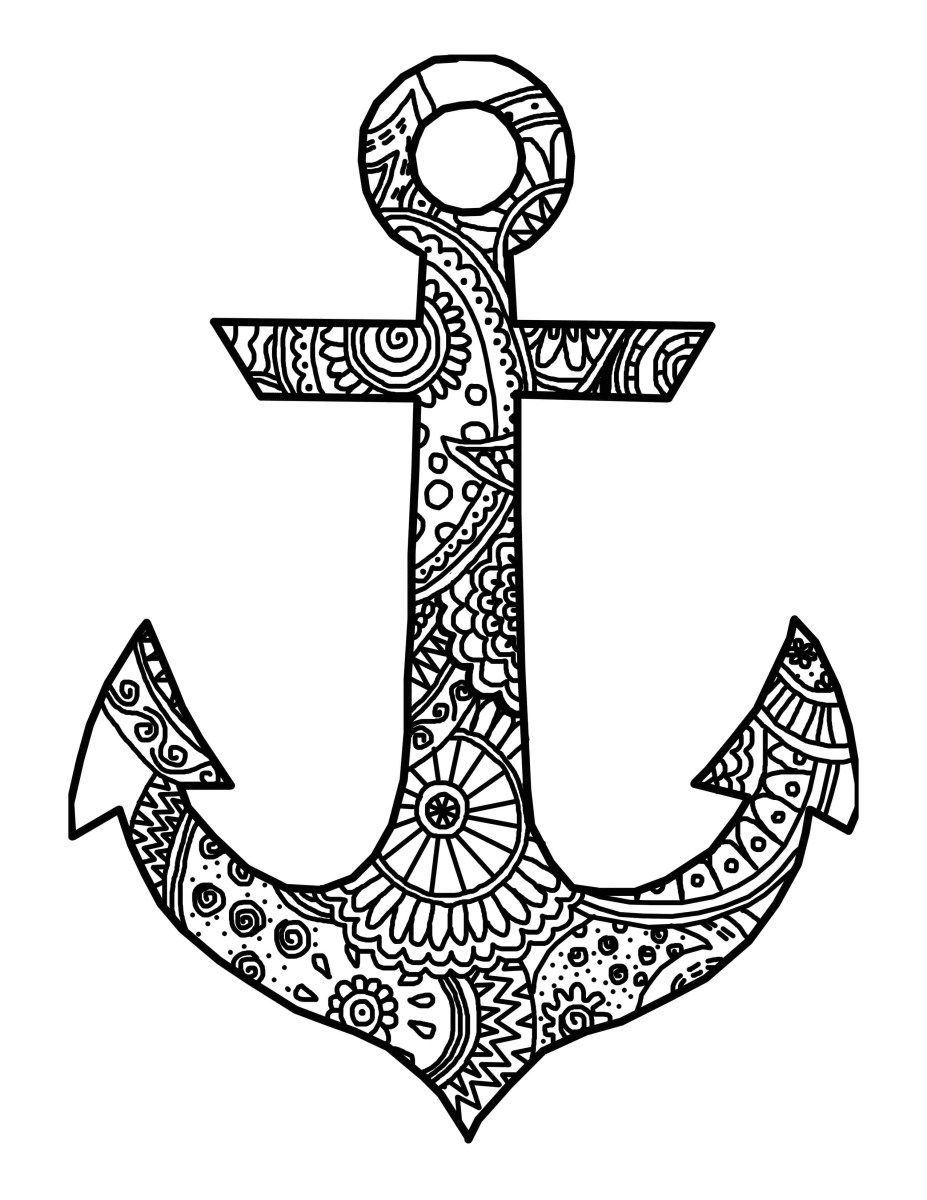 Anchor Coloring Page Anchor Coloring Page Birijus Com Coloring Pages To Print Printable Coloring Pages Coloring Pages