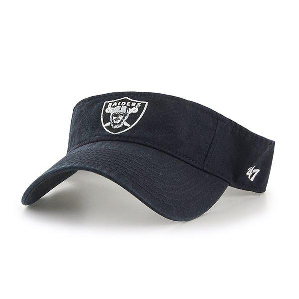 Oakland Raiders Clean Up VISOR Black 47 Brand Adjustable Hat  884293eb4