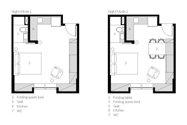 Tiny 290 Sq Ft Apartment Boasts A Genius Collection Of Space Saving Furniture Tiny Apartments Tiny Studio Apartments Space Saving Furniture