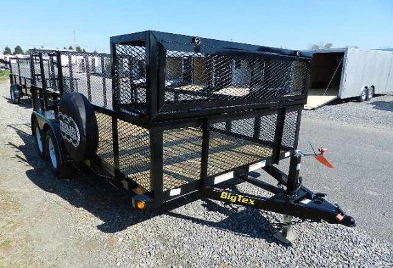 Big Tex 7 X 14 Landscape Utility Trailer U2013 Added Accessories! |  Trailersuperstore.com