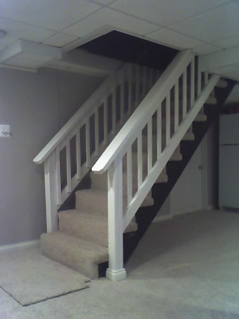 Merveilleux Basement Stair Railing | ... Basement Stairs Deck Style Railing Kirkwood Mo  Before Railing