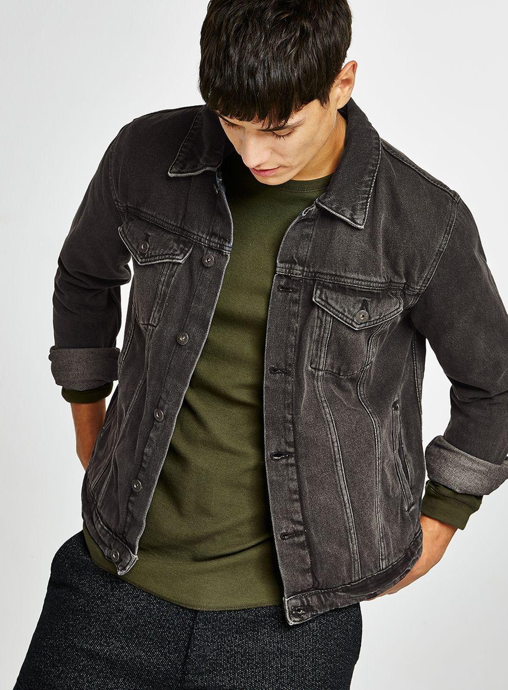 Black Denim Jacket (With images) Black denim jacket men