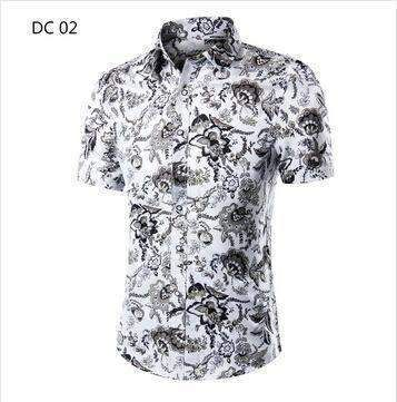 2018 Fashion Mens Short Sleeve Hawaiian Shirt Summer Casual Floral Shirts  For Men Asian Size M-4XL 10 Color 96cde740468e