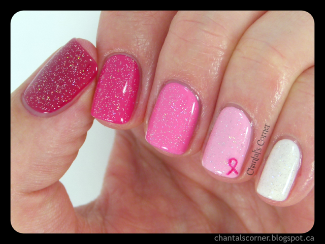 Pink ombre nails for Breast Cancer Awareness ~ Chantal\'s Corner ...