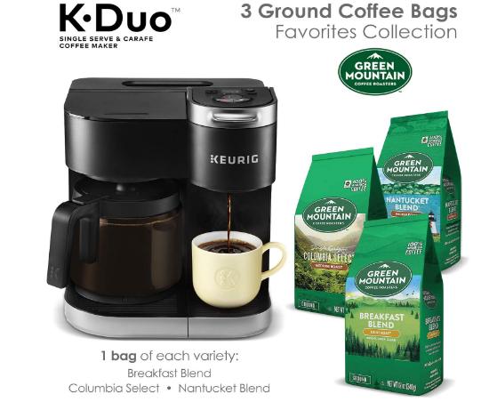 Keurig KDuo Coffee Maker, Single Serve KCup Pod and 12