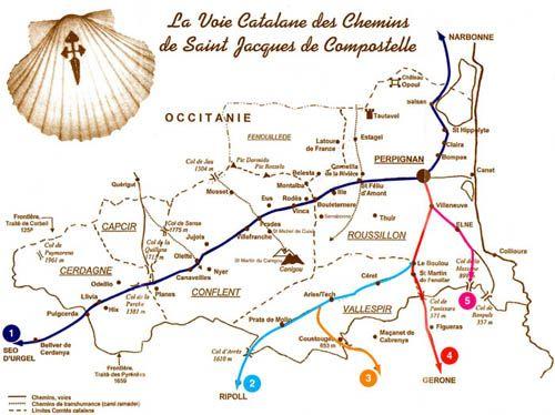 Les voies catalanes des chemins de saint jacques de - Distance st jean pied de port st jacques de compostelle ...