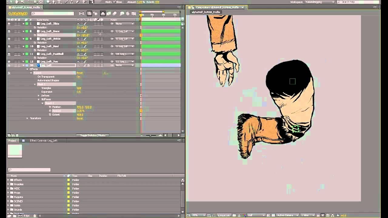 Lesson 2/4 | How To Rig a 2D Character Puppet in Adobe After