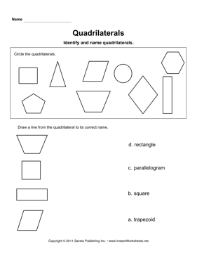 Quadrilaterals | Math | Pinterest | Maths, Worksheets and Students