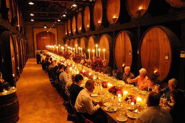 Cask Room Merryvale Vineyards Wedding Rehearsal Dinnerswedding Reception