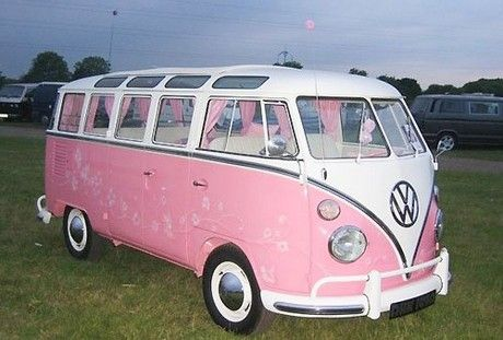 I am pretty sure Hello Kitty would drive this pink van!