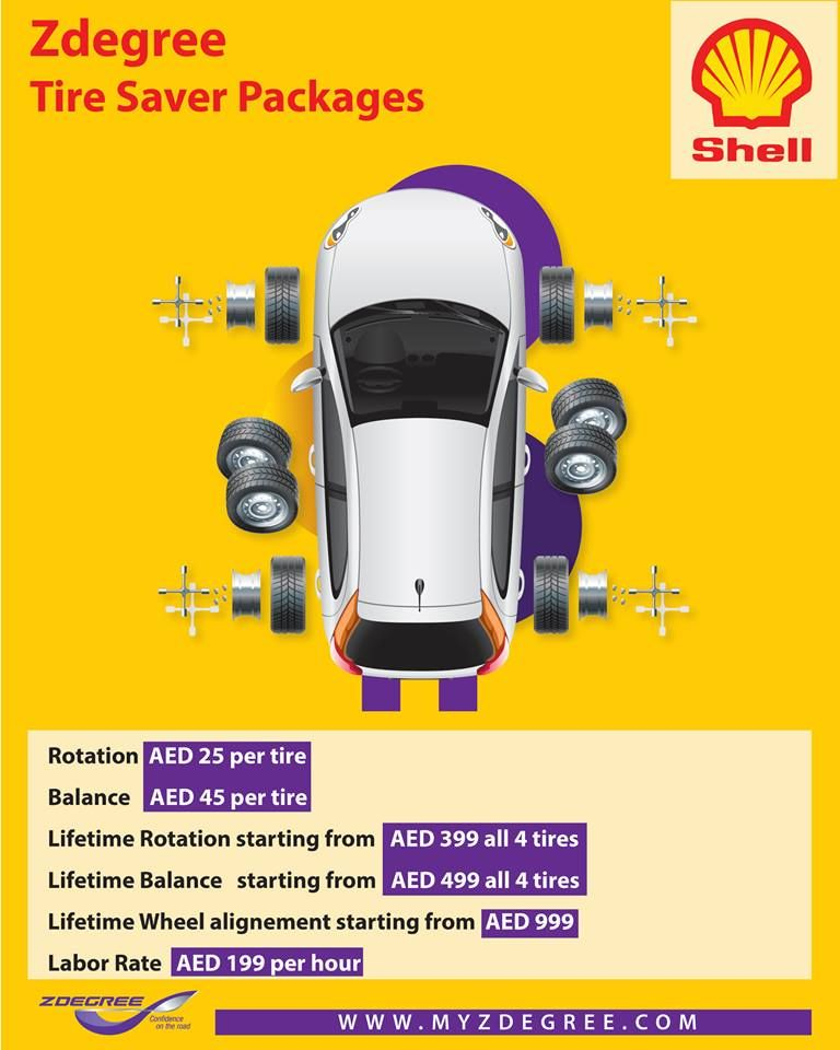 Zdegree Tire Saver Packages Offer With Images Dubai Deals
