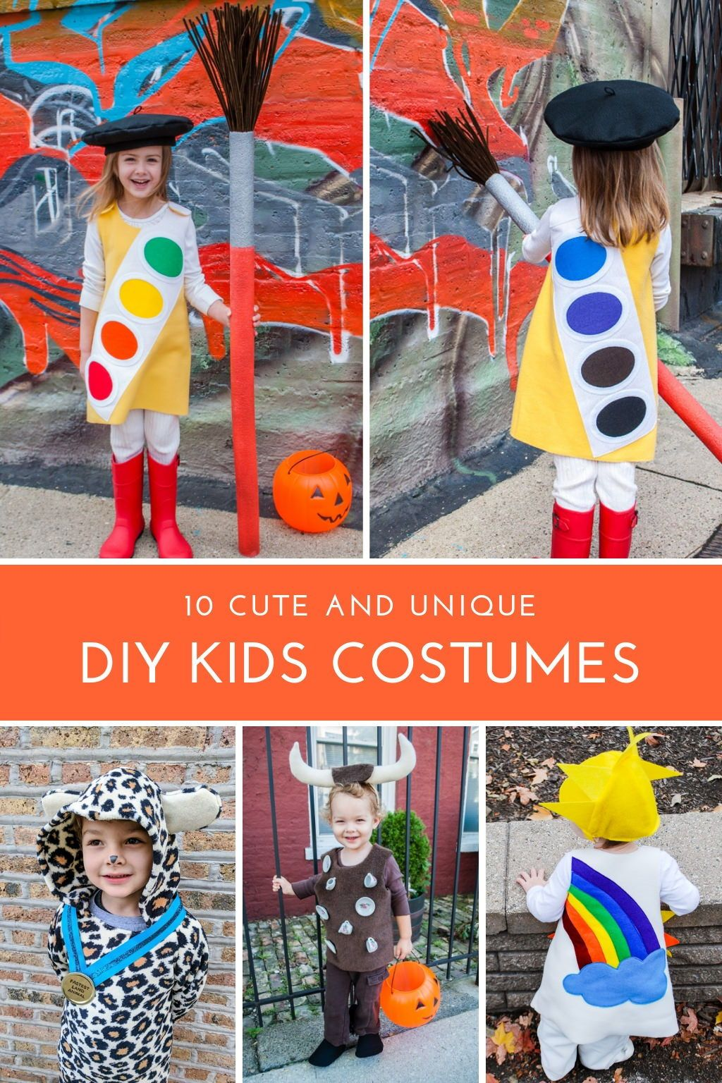 94ae73a298ee 10 cute and unique DIY kids Halloween costume ideas! Make these easy and creative  costumes for boys and for girls! #diy #halloween #costumes #boys #girls ...