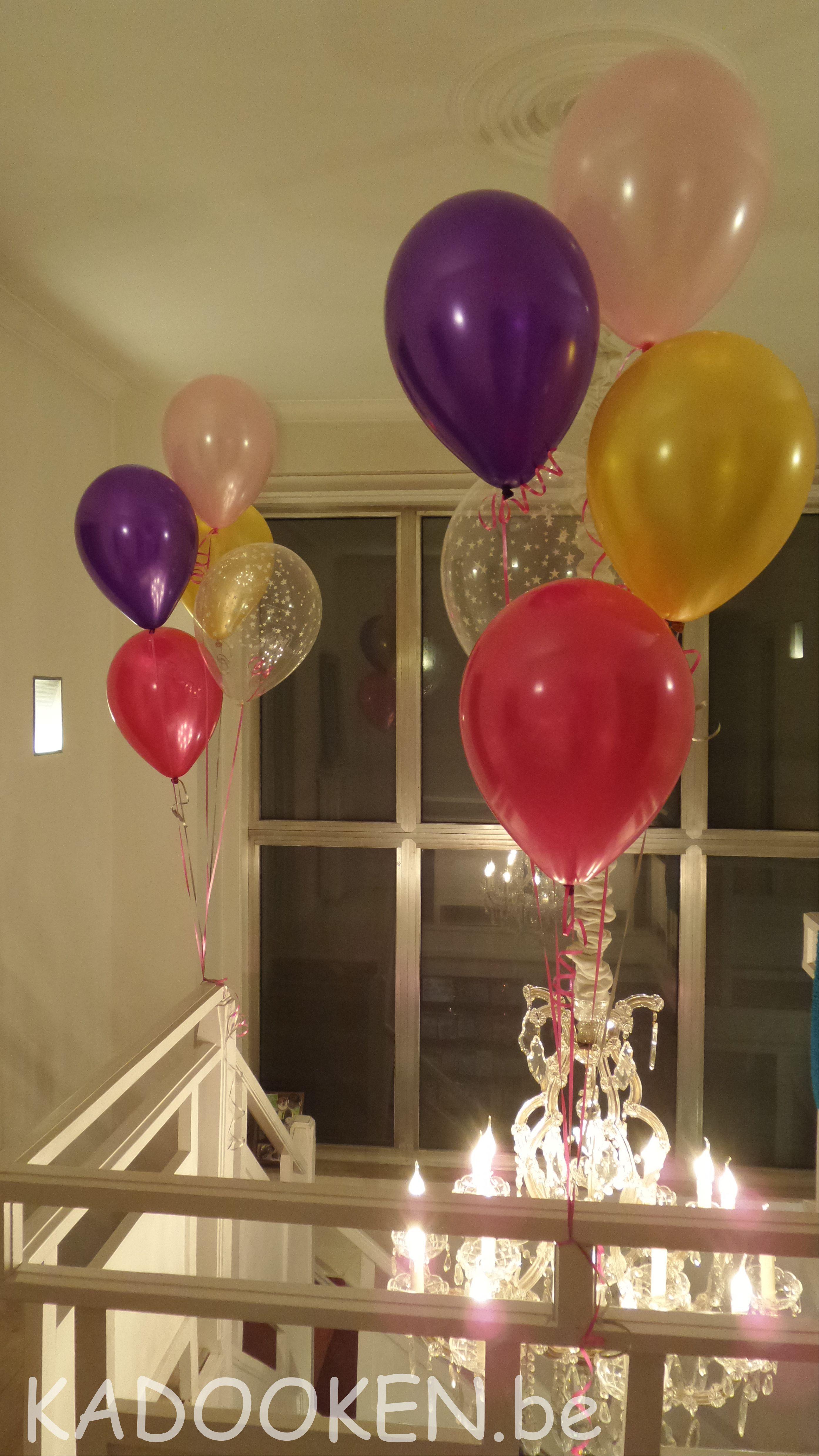 Heliumballonnen decoratie aankleding versiering for Decoratie verjaardag