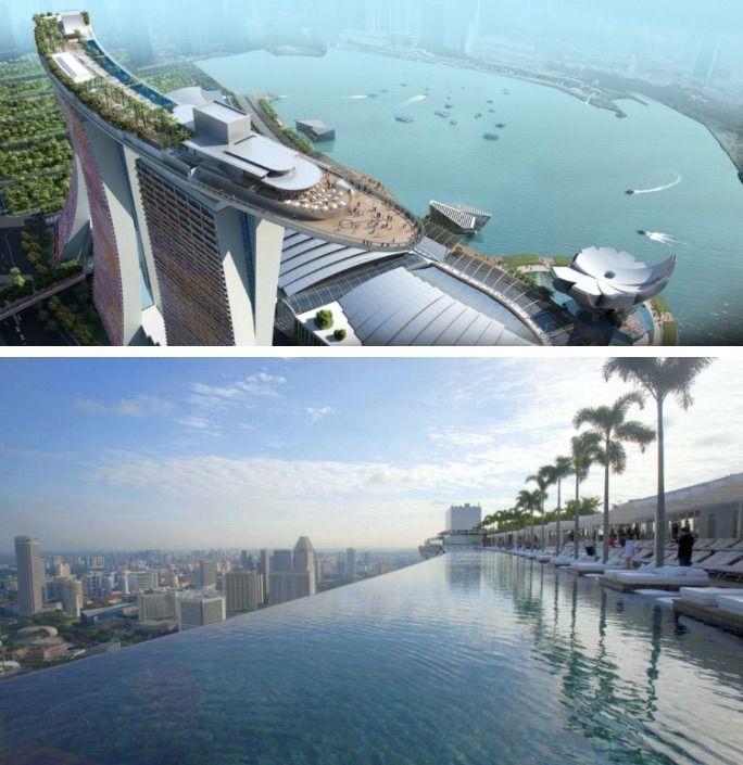 infinity pool singapore dangerous. Marina Bay Sands Hotel Swimming Pool Singapore The Infinity Is Located On Top Tallest Building Dangerous