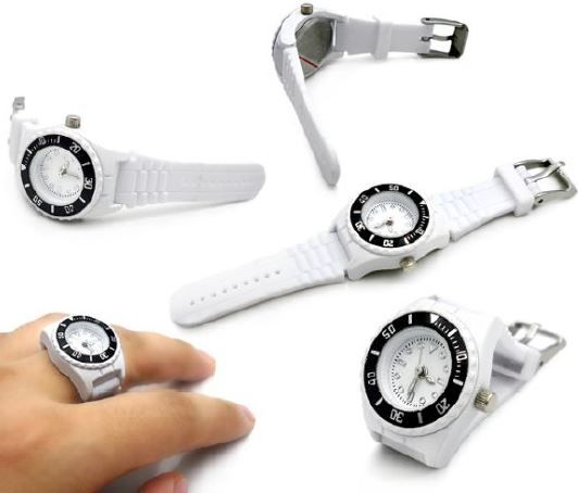 Silicone Ring Watch - Japan movement - MOQ 500 units http://www.promobilia.com