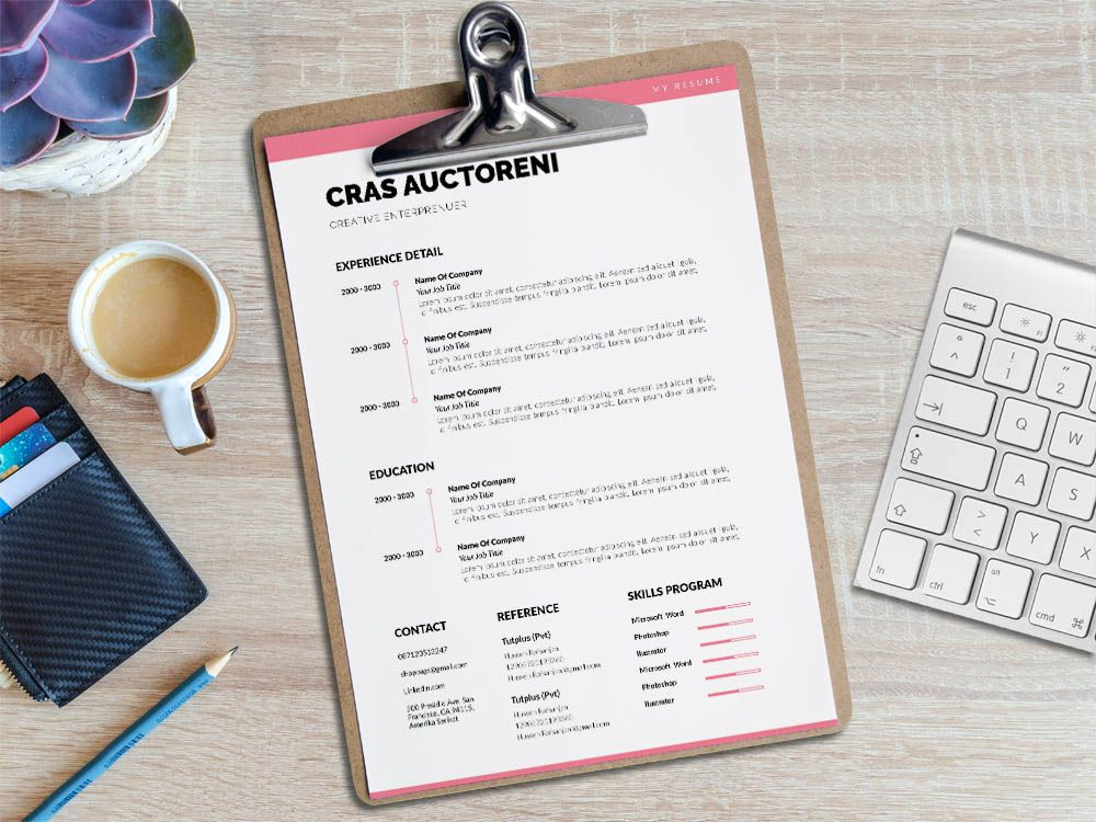 Free minimalist professional resume template resume