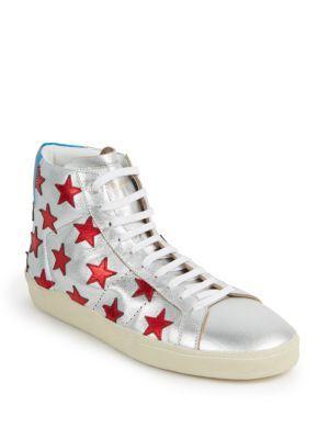 Stars Metallic High-Top Sneakers