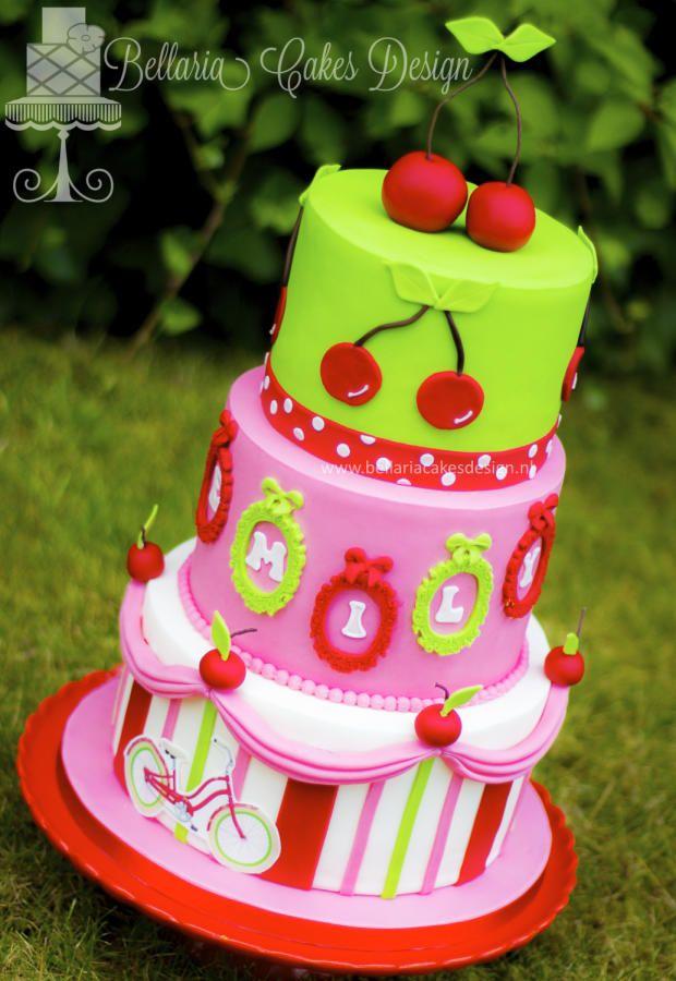 Cherry themed birthday cake   Themed birthday cakes, Cake
