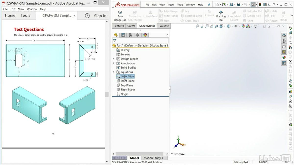 Solidworks Modeling A Sheet Metal Part From A Drawing And Building Parts From Them Solidworks History Design Domain Name Service
