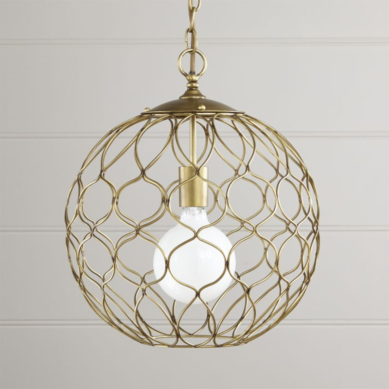 Hoyne Small Brass Pendant Reviews Crate And Barrel Brass Pendant Light Iron Pendant Pendant Lamp