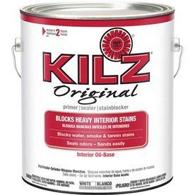 Kilz Original Low Voc Interior Multi Purpose Oil Based Wall And Ceiling Primer Actual Net Contents 128 Oz 10036 Kilz Primer Primer Beyond Paint