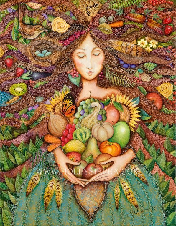 Day 22 - Thanksgiving with Family   The thankful receiver bears a plentiful harvest.   William Blake     Art: Holly Sierra