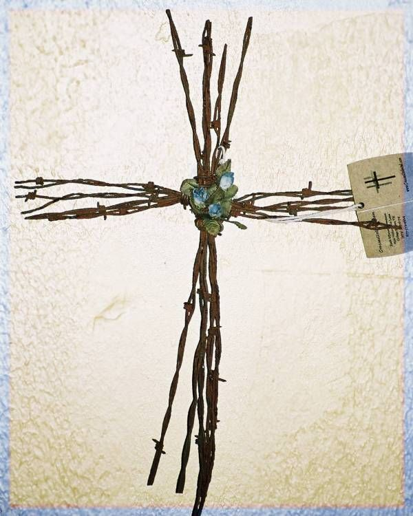 barb wire cross http://crossesunlimited.homestead.com ...