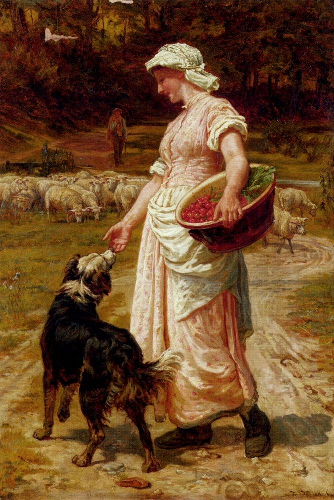 Love Me, Love My Dog, 1879 ~ Frederick Morgan ~ (English: 1847-1927)