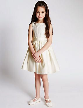 Floral Embroidered Bodice Dress (1-7 Years)